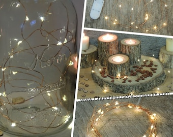 SALE 25 Sets LED Battery Operated Fairy Lights, Rustic Wedding Decor, Room Decor, 6.6 ft