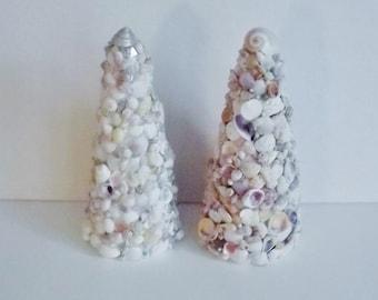 Seashell Trees, Beach Wedding Decor, Seashell Christmas Tree, EACH