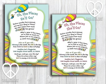Oh The Places You'll Go Printable Birthday Invitation {With or Without Photo}