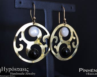 Pìnhéng (Balance) - Pendant earrings