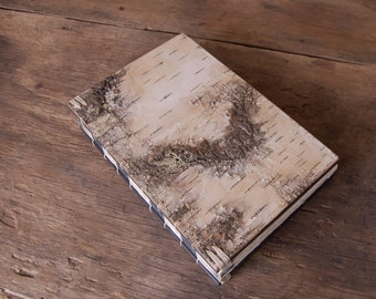birch bark wedding guest book - cabin guestbook unique  journal - wood book - rustic woodland natural  unique wedding gift - made to order