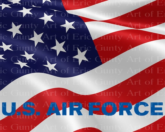 U.S. Air Force Military Flag Birthday - Edible Cake and Cupcake Topper For Birthday's and Parties! - D21929