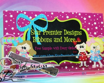 Hairdresser, Stylist Business Card Holder.