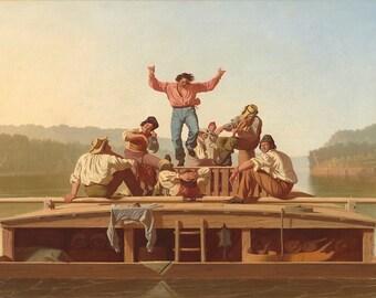 Statement Bag - The Jolly Flatboatmen by VIDA VIDA dAqj6V