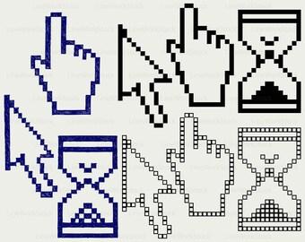 Pixel cursors svg/clipart/pixel cursors svg/cursors silhouette/cursors cricut cut files/cursors clip art/digital download/designs/svg