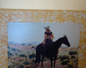 Western cowgirl picture, riding the range,horse,horseback riding