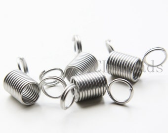 4pcs Stainless Steel Regular Coil Spring Bead Stoppers-30x17mm