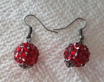 Victorian Red Earrings
