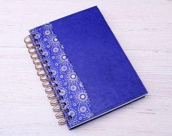 Blank Blue Notebook / royal blue journal / eco friendly recycled notebook / sketchbook / unlined notebook / art journal / travel journal