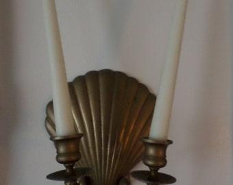 Brass Shell Wall Sconce