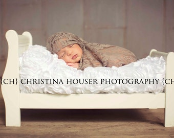 Truffle Stretch Lace Wrap Newborn Photography Prop Baby Swaddle