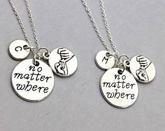 SALE, SET OF 2 Best friends necklace,set of 2, bff necklace, friend necklace, friendship jewelry, friends, charm necklace, best friends fore