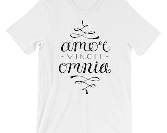 Love Conquers All - Short-Sleeve T-Shirt - Amor Vincit Omnia - Latin