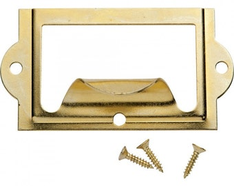 Nickel Card Holders with Pull