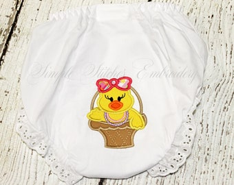 Easter Basket Chick Baby Bloomer