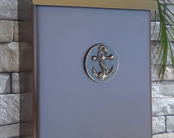 Nautical Anchor Mailbox Oil Rubbed Bronze