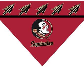 Over the Collar Dog Bandanna - Florida State Seminoles