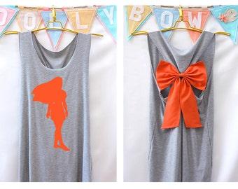 Pocahontas Disney Princess Tank Premium with Bow : Workout Shirt - Keep Calm Shirt - Tank Top - Bow Shirt - Razor Back Tank - Disney shirt