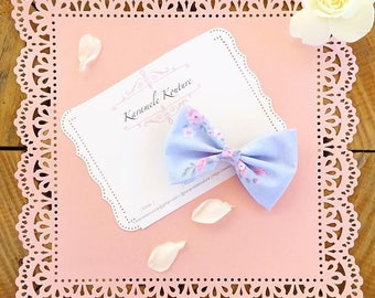 """4"""" """"Spring Blossom"""" floral fabric Hairbow"""