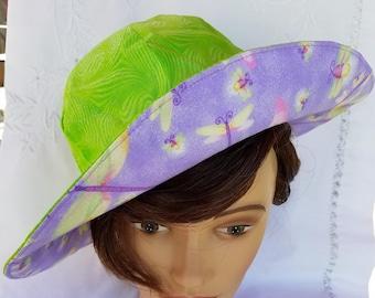 Reversible toddler sunhat, handmade  2 to 5,