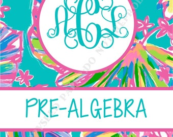 lilly pulitzer binder cover and insert personalized binder cover with monogram and name