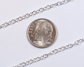 3mm ovale câble chaîne - argent Sterling - SS921 - Made in USA