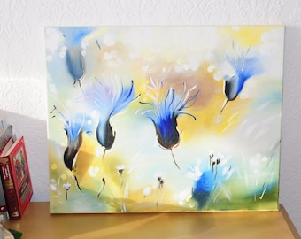 oil painting/cornflowers/abstraction/interior painting