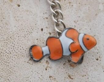 Pewter Clown Fish Key Chain