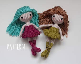 Amigurumi doll pattern crochet doll pattern Crochet amigurumi pattern Crochet pattern Amigurumi pattern DIY Gift PDF pattern amigurumi dolls