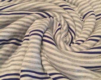 Stripes Knit Rayon Jersey Knit 1-3/4 Yards