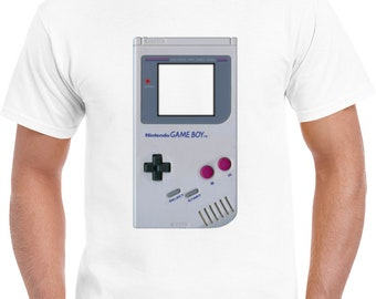 Nintendo Game Boy Classic Vintage Hand Held Video Game Consol T Shirt