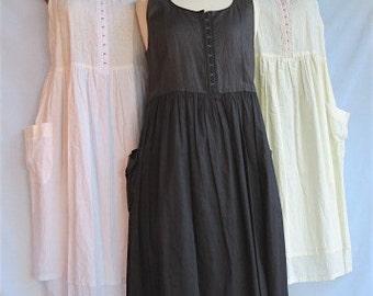 Women's sundress, Pure linen, Summer dress, Linen dress, Handmade, Linen clothing, Pinafore, Jumper, Dress with Pockets, Linen and Cotton
