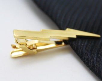 Lightning  Tie Clip, Gold Lightning Accessories, Novelty Accessories, Gift For Man