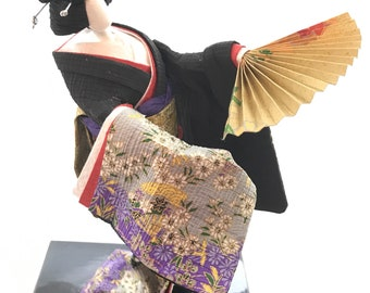 Japanese washi paper doll , Geisha, Washi  Ningyo