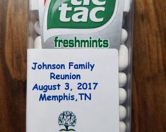 Tic Tac Mints - Custom Designed/Labeled