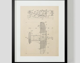 Vintage Flying Machine, Airplane Print 5