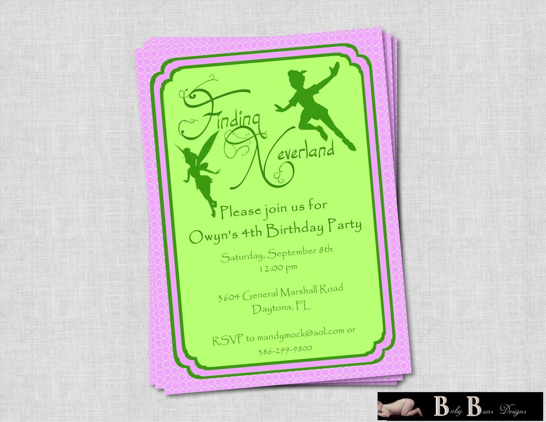 Fairy Neverland Birthday Party Invitation