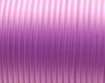 1 meter cord Buna Rubber 1st quality - (4mm round) - Translucent Purple - RUBRD416PUR604
