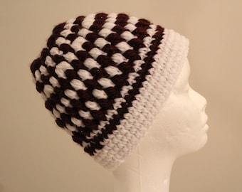 Handmade Striped Crochet Winter Hat