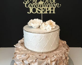 Personalized My First Communion Cake Topper, First Communion Cake Topper, Communion Cake Topper, Any name