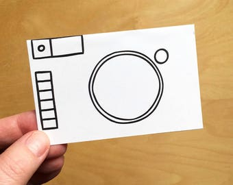 Printable Paper Camera for Kids Valentine's Day cards - Classroom valentines - Preschool valentines crafts for kids - Pretend Play