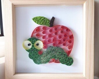 Teacher gift - handmade quilled picture