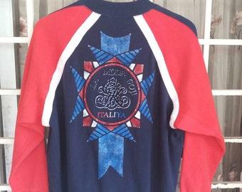 Vint rare la Moda goji sweatshirt half zipper/tricolours/bling bling/japan style