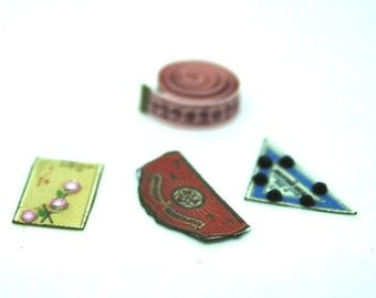 Sewing Notions Set Dolls House Miniature
