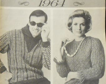 Vintage 1964 Sweater Patttern Booklet Collection from Woman's Day
