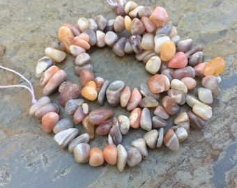 Pink Opal Nugget Beads, Pink Opal Chip Beads, 6 to 7mm, 16 inch strand