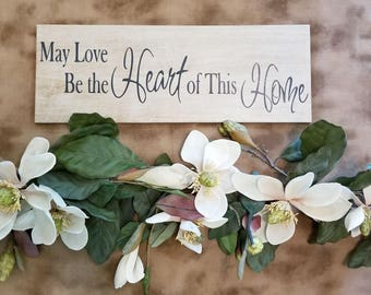 May Love Be the Heart of This Home Laser Etched Ceramic Tile