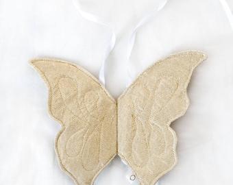 gold baby wings, butterfly wings, angel wings, photo prop