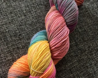 Fantasy, sparkle yarn, hand dyed yarn, 4ply yarn, superwash merino