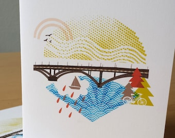 New Sellwood Bridge Portland Notecards